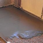 Заливка стяжки из бетона
