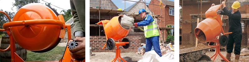 Использование бетоносмесителя Вихрь