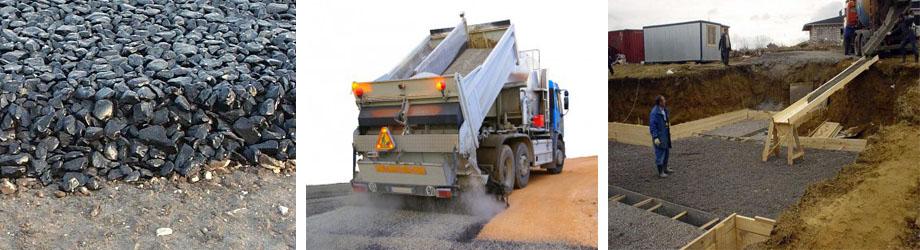 Использование дроблёного гранитного камня под фундамент и для прокладки дорог