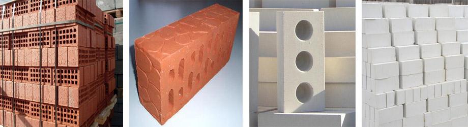 Керамические и силикатные кирпичные камни