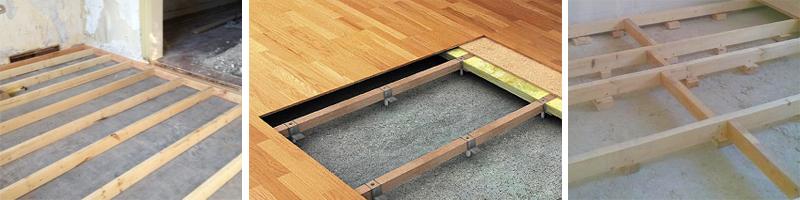 Лаги на бетонном полу