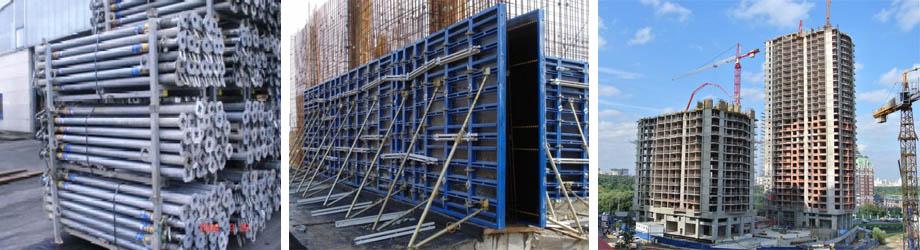 Монолитное строительство с помощью продукции Дока