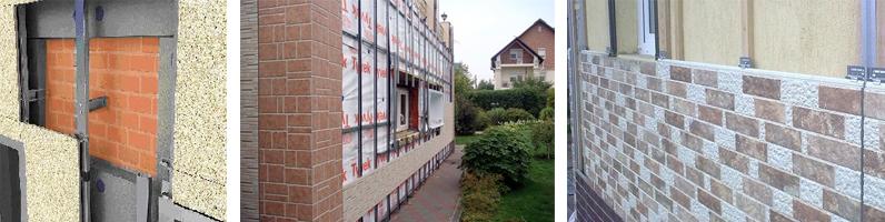Монтаж панелей фасадных