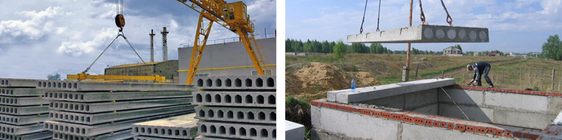 Монтаж строительных плит