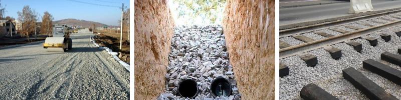 Область применения гранитного щебня