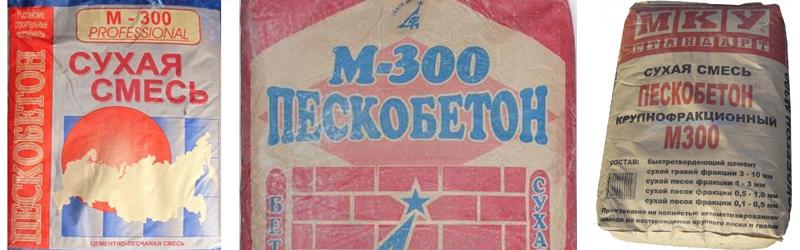Пескобетон (смесь) М300 МКУ