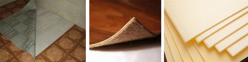 Подложка между линолеумом и бетоном
