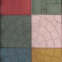 Полимерная цветная плитка