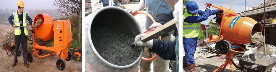 Применение инструмента для приготовления бетонного раствора