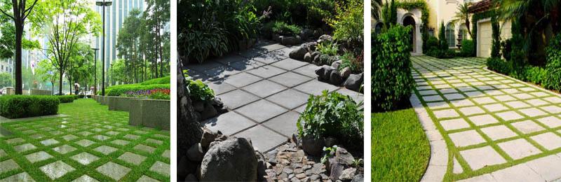 Размеры  плитки 500х500х50 обеспечивают идеальное покрытие грунта в садах и парках