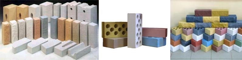Разнообразие видов силикатного кирпича