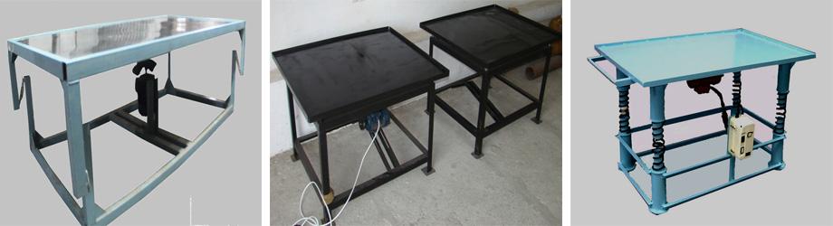 Разнообразные столы для изготовления плитки