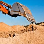 Сеяный строительный песок