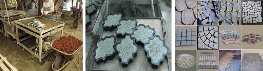 Создание тротуарной плитки с помощью вибростола