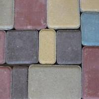 Тротуарная цветная плитка