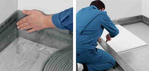 Укладка полиуретановой ленты