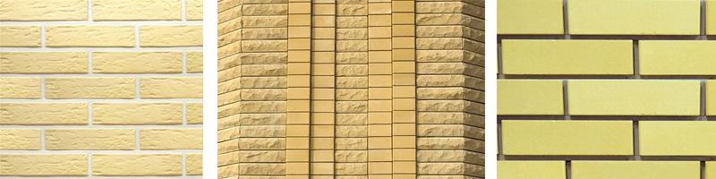 Фото желтого облицовочного кирпича