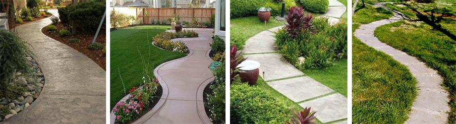 Фото садовых дорожек из бетона
