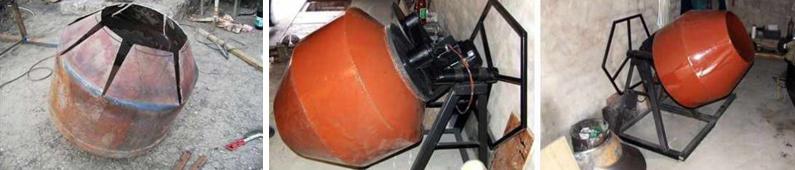 Бетономешалка своими руками ручая и электрическая, фото, видео