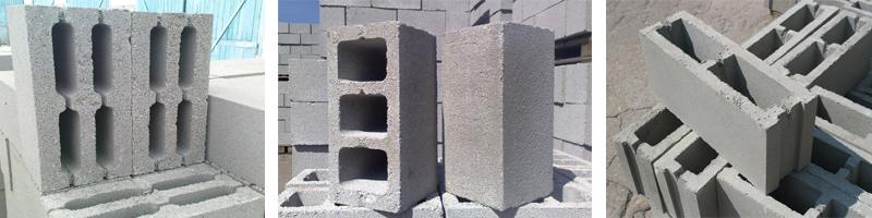 Фото стенового камня шлакоблока