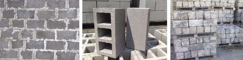 Фото строительных шлакоблоков