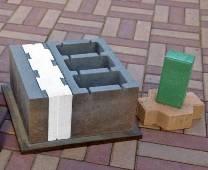 Шлакоблоки, сделанные с помощью вибропресса Кондор