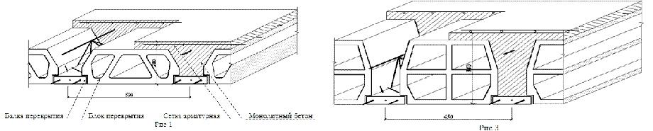Схемы сборно-монолитных перекрытий