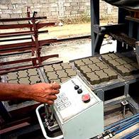 Вибропрессование бетонной плитки