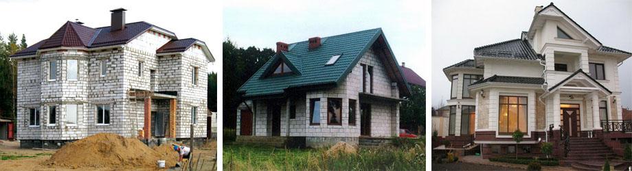 Загородный дом из газосиликатного кирпича
