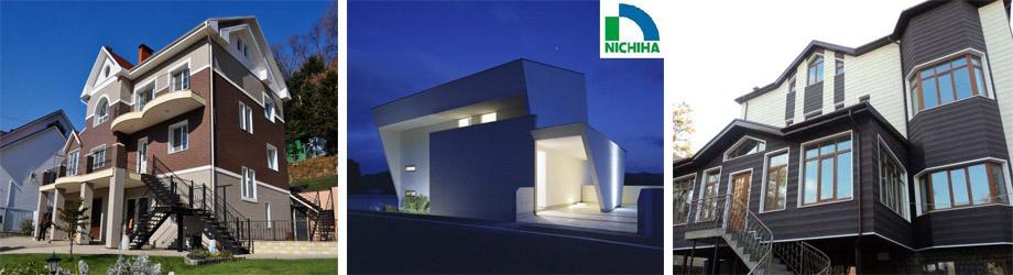 Облицовка фасадов японскими панелями Ничиха
