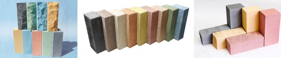 Разновидности силикатного цветного кирпича