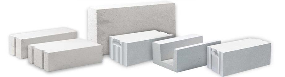 Фото различных видов газосиликатных блоков