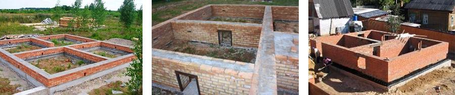 Фото фундамента из кирпича